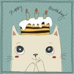 Happy Birthday Ecard Cute Cat